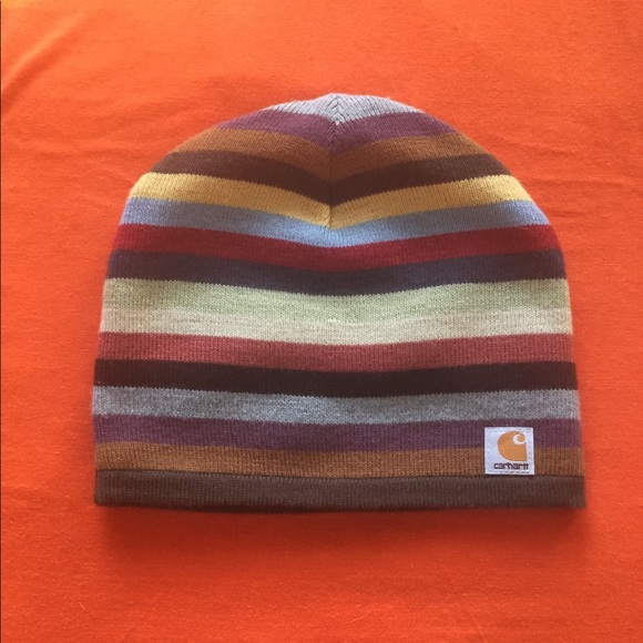 80c1d6eda91b9 Carhartt Accessories - Carhartt Striped Beanie Colorful With Fleece Liner